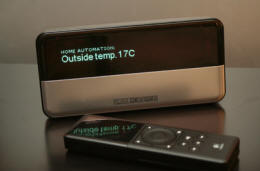 Squeezebox Classic showing outside temperature